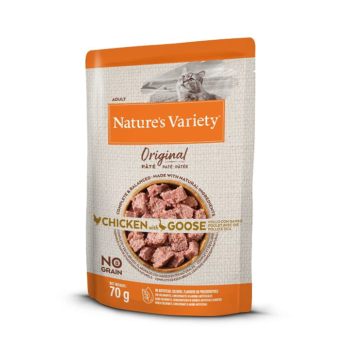 Nature's Variety Pate Cat Original Chicken with Goose