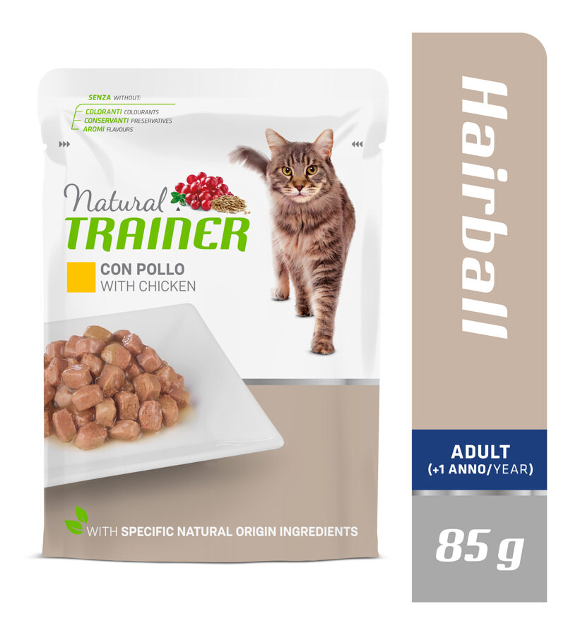 Trainer Hairball with Chicken